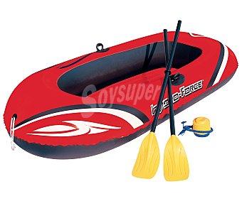 BESTWAY Set de barca modelo Hydro-Force Raft de 186x100 centímetros con remos e hinchador de pie 1 unidad