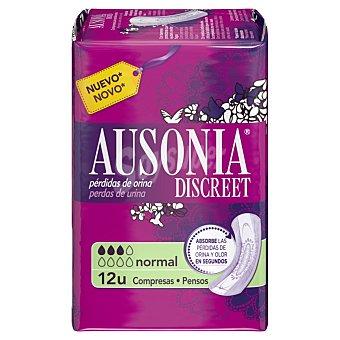 Ausonia Compresa normal para pérdidas de orina Bolsa de 12 unidades