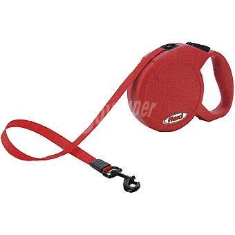 BIOZOO AXIS FLEXI MINI Correa extensible color rojo para perros pequeños cordón de 3 metros 1 unidad