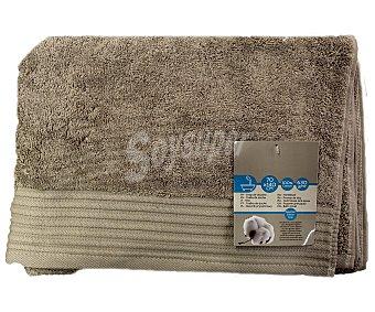 AUCHAN Toalla para ducha de algodón egipcio, 630 gramos/m², color marrón, 70x140 centímetros 1 Unidad