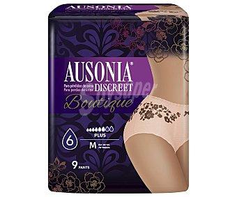 Ausonia discreet Braga desechable color carne, talla M, indicada para perdidas medias a severas boutique 90 uds