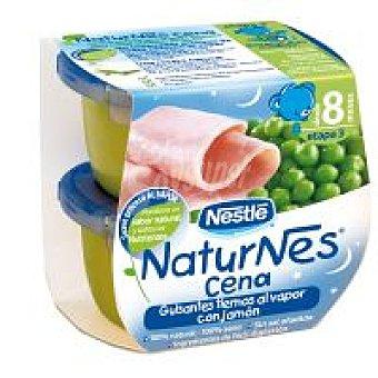 Naturnes Nestlé Tarrina de guisantes con jamón Tarrina 400 g