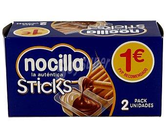 Nocilla Nocilla sticks (doble crema al cacao y leche con avellanas y palitos de pan) 2 unidades de 35 gramos