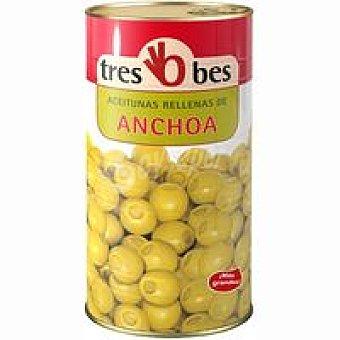TRES BES Aceitunas rellenas de anchoa 590g