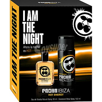 Pachá Ibiza Hot Energy eau de toilette natural masculina + desodorante spray 150 ml Spray 30 ml