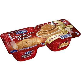 Danone crema sabor turrón  pack 2 envase 115 g