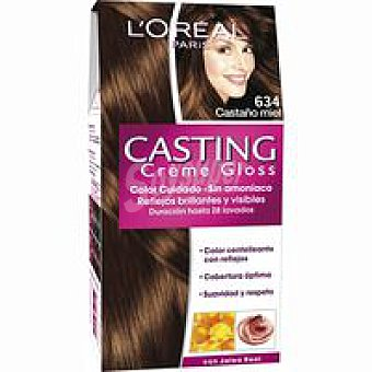 Casting Crème Gloss L'Oréal Paris Tinte castaño miel N.634 Caja 1 unid