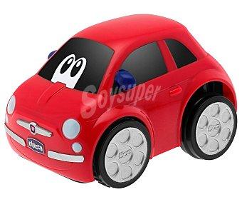 Chicco Coche Fiat 500 electronic rojo con mecanismo Turbo Touch y sonidos 1 unidad