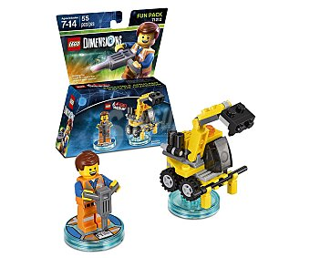 LEGO Pack de diversión Emmet, incluye 2 figuras interactivas Lego Dimensions 1 unidad
