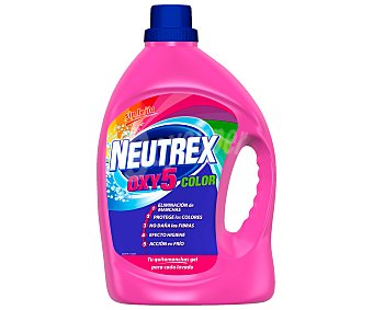 Neutrex Oxy5 color quitamanchas en gel sin lejía Botella 34 dosis