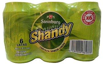 Steinburg Cerveza con limon shandy 6 latas de 330 ml