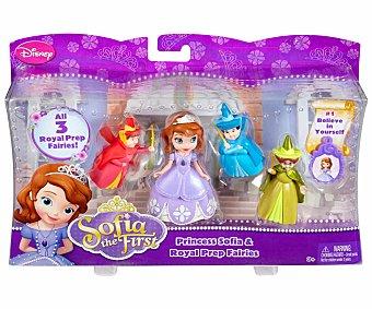 DISNEY Figura de la Princesa Sofía más 3 Hadas Madrinas 1 Unidad