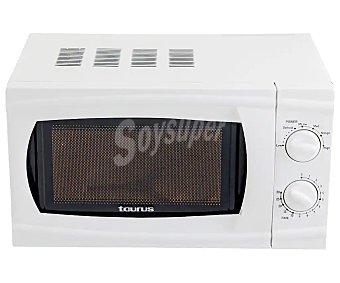 Taurus Microondas Instant, color blanco, capacidad , potencia 700W 20l