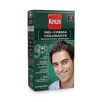 Kerzo Crema coloración nº 10 Negro solo en 5 min Caja 1 unidad