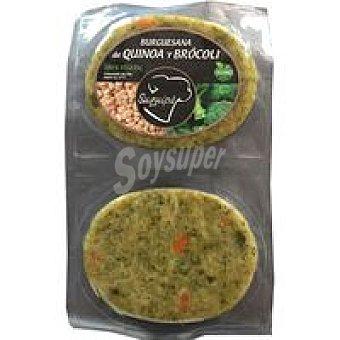 Suquipà Hamburguesa de quinoa-brocoli bandeja 180 g