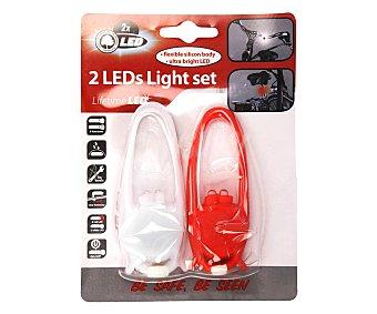 Edco eindhoven Pack de 2 luces Led para bicicleta, EINDHOVEN.