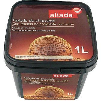 Aliada Helado de chocolate con trocitos de chocolate Tarrina 1 l