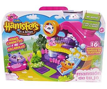 HAMSTERS IN A HAUSE Mansión de lujo Playset de juego Mansión de lujo con sonidos y 1 hamster incluido HOUSE.