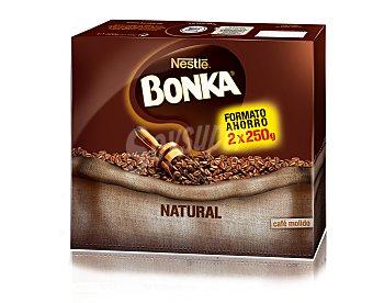 BONKA Cafe natural molido pack 2 paquetes 250 g