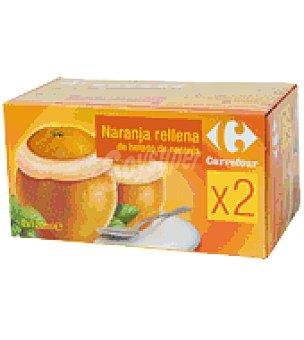 Carrefour Sorbete de naranja 2 unidades