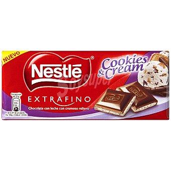 Nestlé Chocolate extrafino relleno cookies & cream Tableta 100 gr