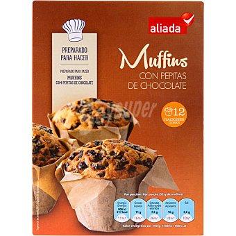 Aliada Preparado para hacer Muffins con pepitas de chocolate 12 raciones Estuche 375 g
