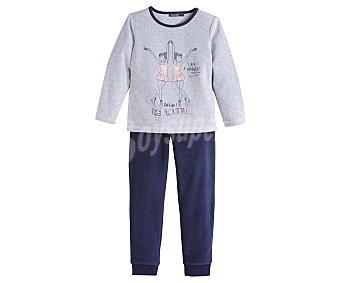 In Extenso Pijama largo de niña de terciopelo talla 4