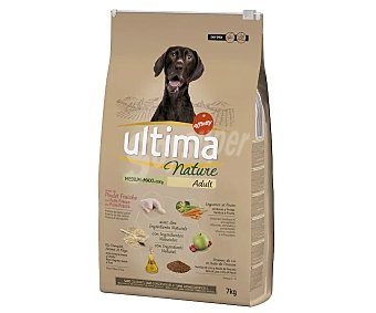 Ultima Nature Comida para perro adulto sabor a pollo Medium.-Maxi bolsa 7 kg