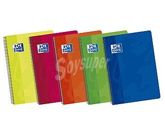 Oxford Cuaderno de tamaño DIN A4, con cuadricula de 4x4 milímetros, 80 hojas de con margen, tapas de polipropileno de alta resistencia y encuadernación con espiral metálica OXFORD. Este producto dispone de distintos modelos o colores. Se venden por separado SE SURTIRÁN SEGÚN EXISTENCIAS 90 gramos