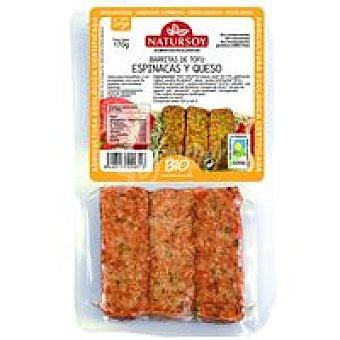 Natursoy Barritas de tofu-espinacas-queso Paquete 180 g