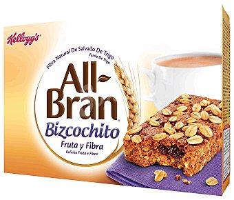 All Bran Kellogg's Cereales en bizcocho de fruta y fibra Pack 6 x 40 g