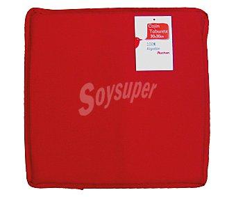 AUCHAN Cojín de taburete, color rojo liso, modelo Panama, 30x30 centímetros 1 Unidad