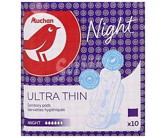 Auchan Compresas de noche con alas 10 uds