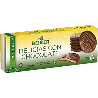Beiker Delicias con chocolate sin gluten Envase 200 g