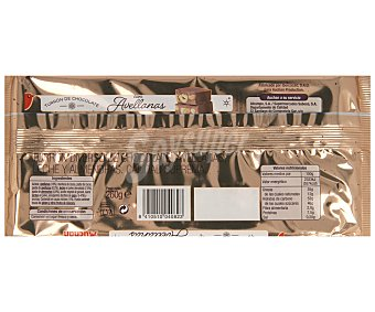 Auchan Turrón de chocolate con avellanas enteras 260 gramos