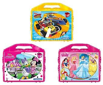 CLEMENTONI Disney Juego de 12 cubos rompecabezas con diseño de personajes Disney, CLEMENTONI.