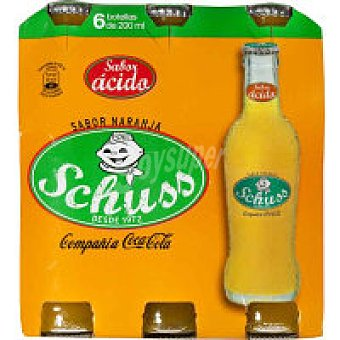 Schuss Refresco de naranja Pack 6x20 cl