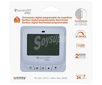 SEVENON Termostato digital programable para superficies