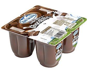 Central Lechera Asturiana Postre Lácteo al Chocolate 4 Unidades de 100 Gramos
