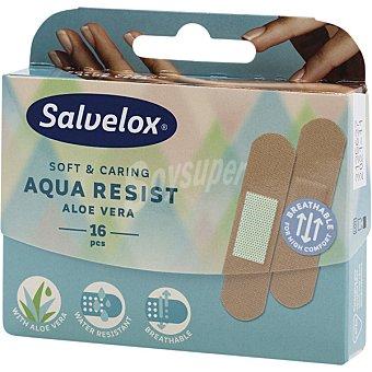 Salvelox Aqua Resist con aloe vera apósitos con efecto protector caja 16 unidades 16 unidades