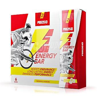 Prozis Barritas energéticas sabor banana y almendras Prozis Pack de 6 barritas de 20 g
