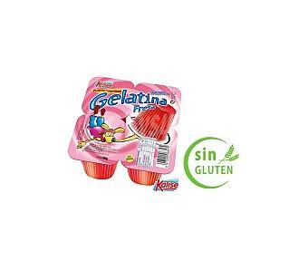 Kalise Gelatina sabor fresa sin gluten Pack 4 unidades 100 g