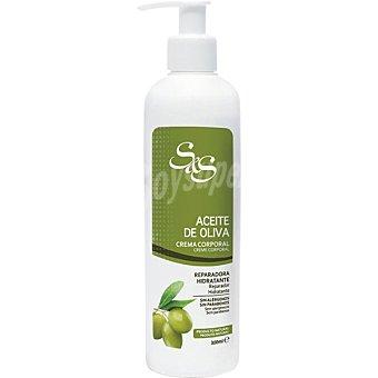 S&S Crema corporal Aceite de Oliva reparadora hidratante Dosificador 300 ml