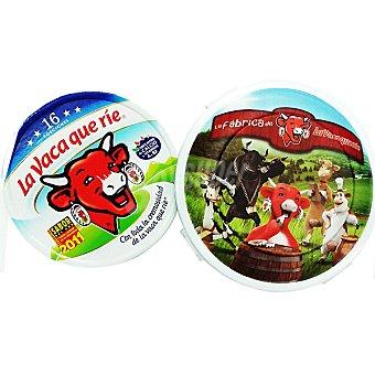 La Vaca que ríe Queso fundido 16 porciones + regalo fiambrera Pack 2 unidades 250 g