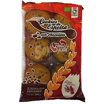 EL HORNO DE LEÑA Cookies de espelta biológicas Envase 300 g