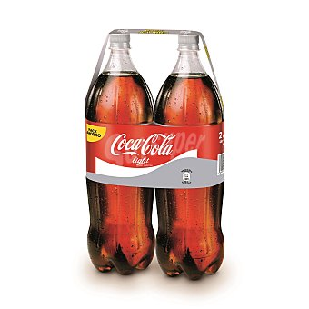 Coca-Cola Light Refresco de cola sin azúcar  Paquete 2 unidades (4 l)