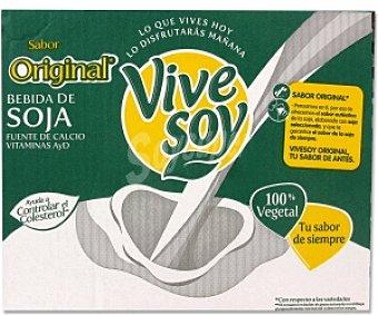 Vivesoy Bebida de soja Original Pack 8 Unidades de 1 Litro