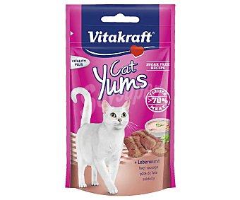 Vitakraft Snacks para gatos a base de paté de hígado en bolsa resellable 40 g