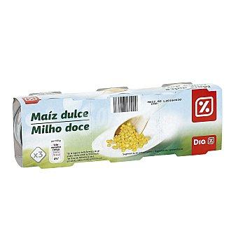 DIA Maíz dulce Pack 3 latas 70 gr