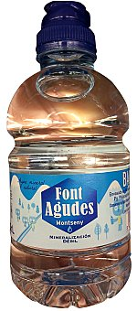 FONT AGUDES Agua mineral natural (tapon especial niños) Botellin 330 cc